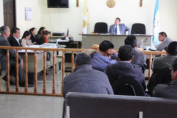 Tribunal de Sentencia de la cabecera de Totonicapán. (Foto Prensa Libre: Édgar Domínguez).