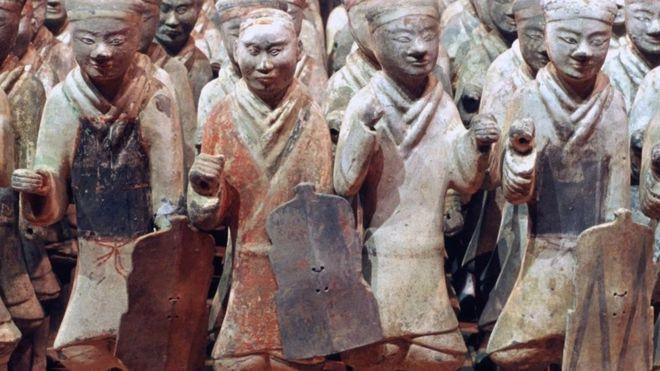 Listos para defender al emperador Qin en el más allá... ALAMY