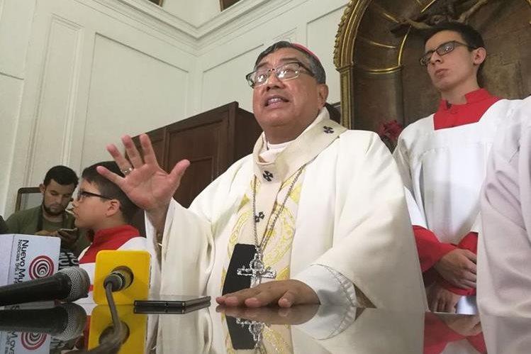 Arzobispo Óscar Julio Vian considera que las declaraciones del presidente Jimmy Morales no fueron justas (Foto Prensa Libre: Esvin García).