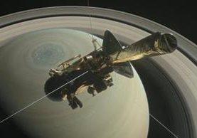 Ilustración de la Nasa de la sonda cassini sobre el hemisferio norte de Saturno. (Foto Prensa Libre: EFE)