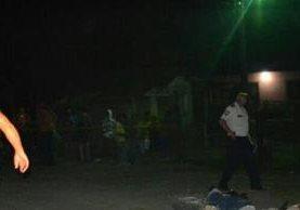 Lugar donde ocurrió el ataque armado en Puerto Barrios. (Foto Prensa Libre: Dony Stewart).