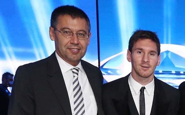 José María Bartomeu, presidente del FC Barcelona, confía en una renovación del argentino Lionel Messi. (Foto Prensa Libre: Hemeroteca)
