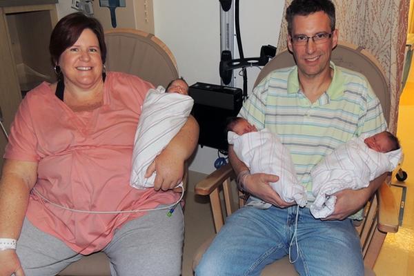 <p>Los trillizos nacieron el pasado 13 de enero, en California, Estados Unidos y se llamarán Patrick, Owen y Liam. (Foto Prensa Libre: AP)<br></p>