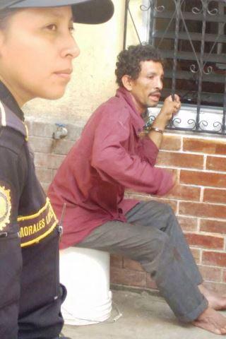Edilberto Rueda Rosales, de 34 años, el único detenido por el secuestro en Barberena, Santa Rosa. (Foto Prensa Libre: Oswaldo Cardona)
