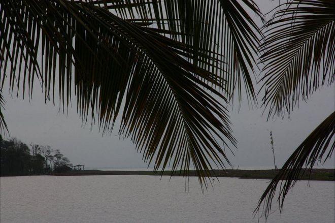Al otro lado de la laguna Los Portillos o Harbour Head se estableció el campamento militar nicaragüense. (Leire Ventas).
