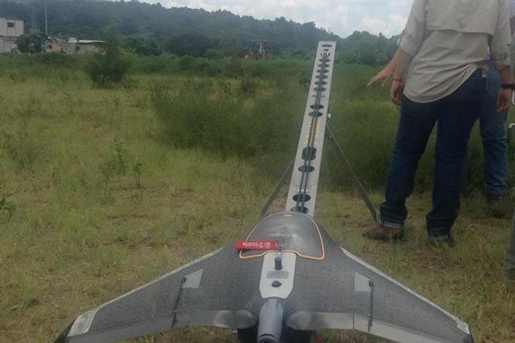 Dron Trimble UX5 sobrevoló área afectada de El Cambray 2 (Foto Prensa Libre: Netcore Technologies)