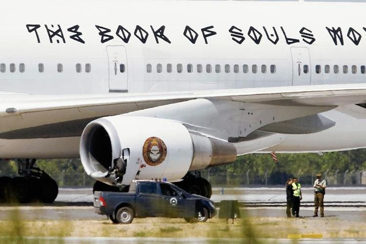 El Ed Force One Boeing 747 sufrió un accidente en el aeropuerto de Chile. (Foto Prensa Libre: Hemeroteca PL).