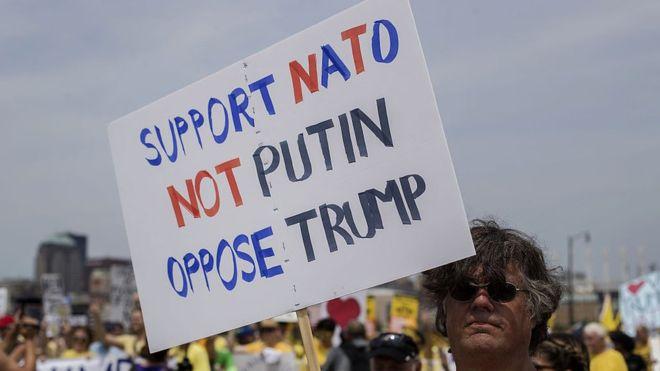 Trump comentó que podría no seguir las directrices de la OTAN si Rusia invadiera los países bálticos. GETTY IMAGES