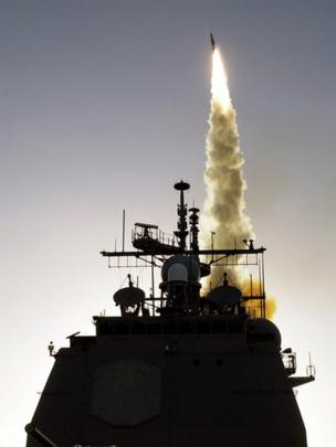El sistema de defensa Aegis permite interceptar misiles desde el mar. GETTY IMAGES