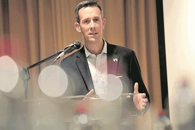 Ryan Brennan, vicepresidente de la Oficina de Política de Inversiones de Estados Unidos. (Foto Prensa Libre: Carlos Hernández).