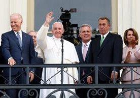 Francisco visitó el Congreso y la catedral de Washington antes de partir a Nueva York.