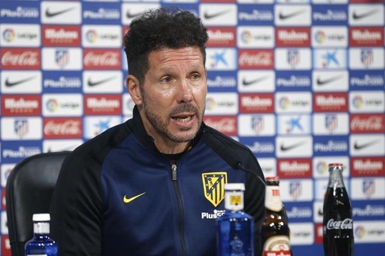 Diego Simeone sigue confiando en las capacidades de sus jugadores. (Foto Prensa Libre: EFE)
