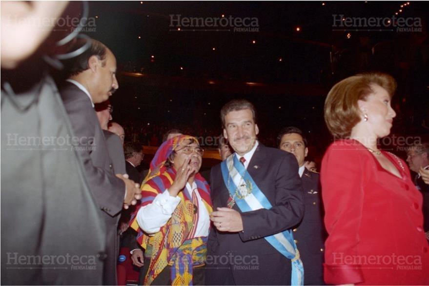 Ramiro de León fue nombrado presidente del país por el Congreso, luego del autogolpe de Jorge Serrano Elías, en 1993. (Foto: Hemeroteca PL)