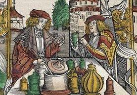 La tomaban reyes, emperadores, burgueses y plebeyos. Esta es una ilustración del siglo XVI de alquimistas preparando triaca del libro del cirujano y alquimista alemán Hieronymus Brunschwig. SCIENCE PHOTO LIBRARY