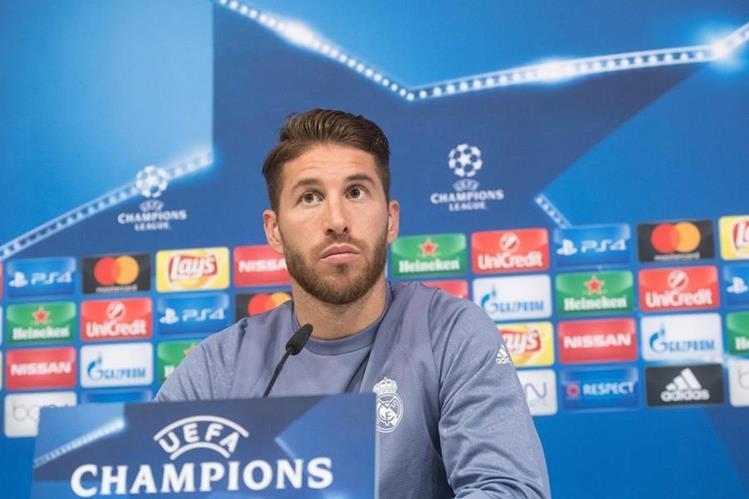 Sergio Ramos aseguró durante una conferencia de prensa que buscan desestabilizar al Real Madrid. (Foto Prensa Libre: AFP).