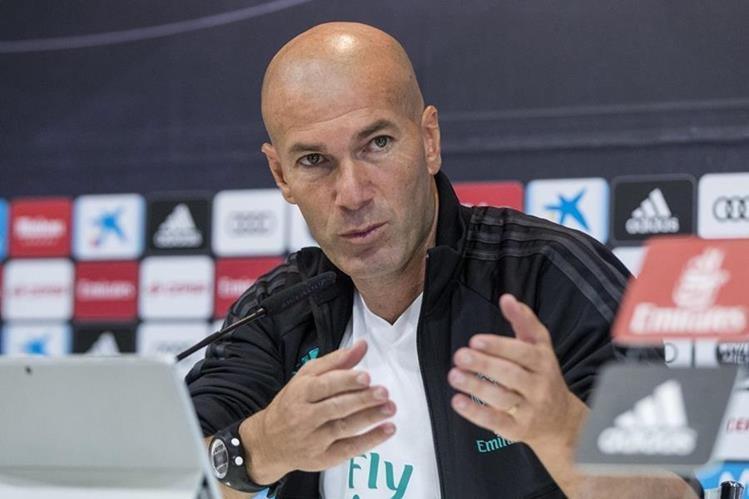 Zidane aseguró este sábado en rueda de prensa que su equipo está en óptimas condiciones. (Foto Prensa Libre: EFE)