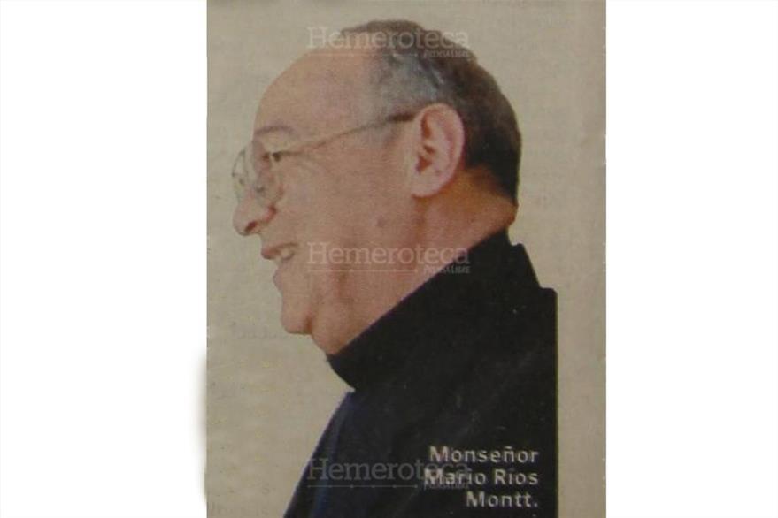 Monseñor Jorge Mario Ríos Montt, quien presidió el homenaje a Gerardi en el primer aniversario de su muerte. (Foto: Hemeroteca PL)