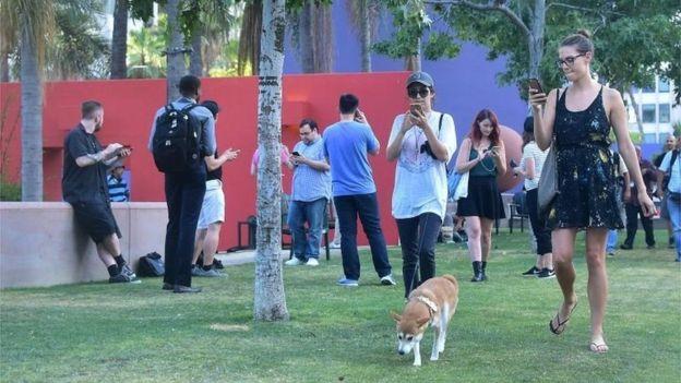 Jugar Pokémon y pasear al perro al mismo tiempo. ¿Buena o mala idea? (GETTY IMAGES).