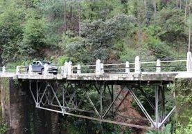 El puente Canchó se halla en el kilómetro 157 de la carretera a Santa Cruz del Quiché. (Foto Prensa Libre: Héctor Cordero)