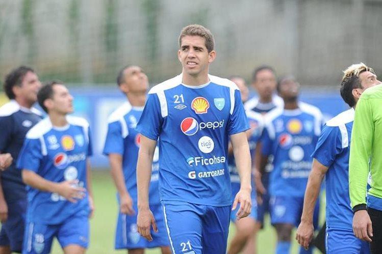El guatemalteco Minor López Campollo durante un entrenamiento con la Selección Nacional. (Foto Prensa Libre: Hemeroteca PL)