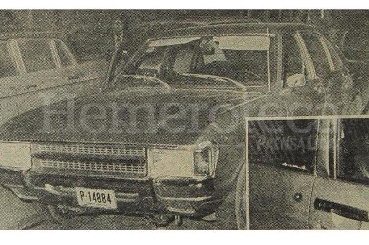 El automóvil que el ex alcalde manejaba acompañado de dos agentes de seguridad, cuando se produjo el hecho. (Foto: Hemeroteca PL)