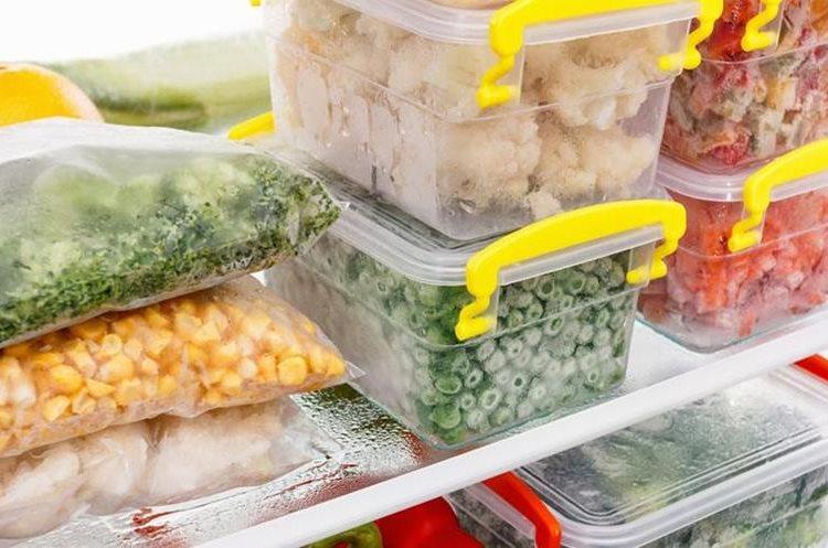 Al congelar los alimentos podrá optimizar tiempo y ahorrar costos. (Foto Prensa Libre: Hemeroteca)