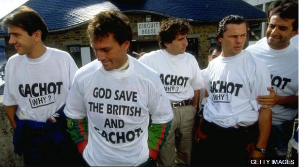 Pilotos de F1 como Erik Comas, Andrea De Cesaris, Alain Prost, Olivier Grouillard e Ivan Capelli expresaron su apoyo a Gachot.