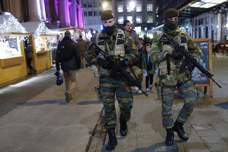 Bélgica se encuentra en alerta por ataques terroristas. (Foto Prensa Libre: EFE)