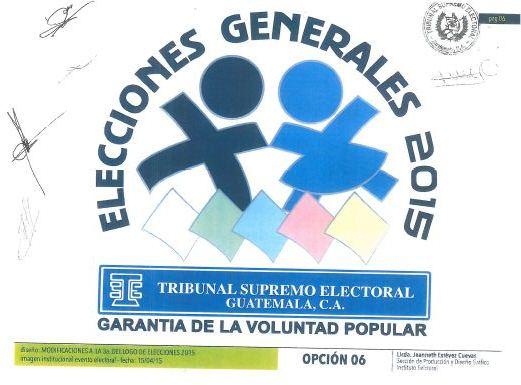 Este es el logotipo que el TSE aprobó para las elecciones generales 2015. (Foto Prensa Libre: TSE).