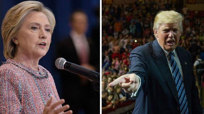 Clinton y Trump se enfrentarán en el debate del lunes. AFP
