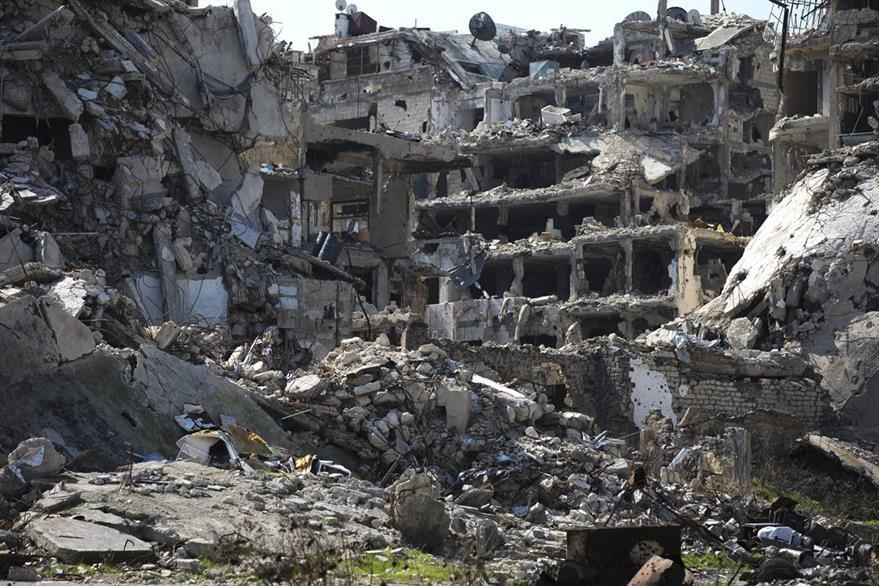 Es elocuente la destrucción por la guerra civil en Homs, Siria. (AP)