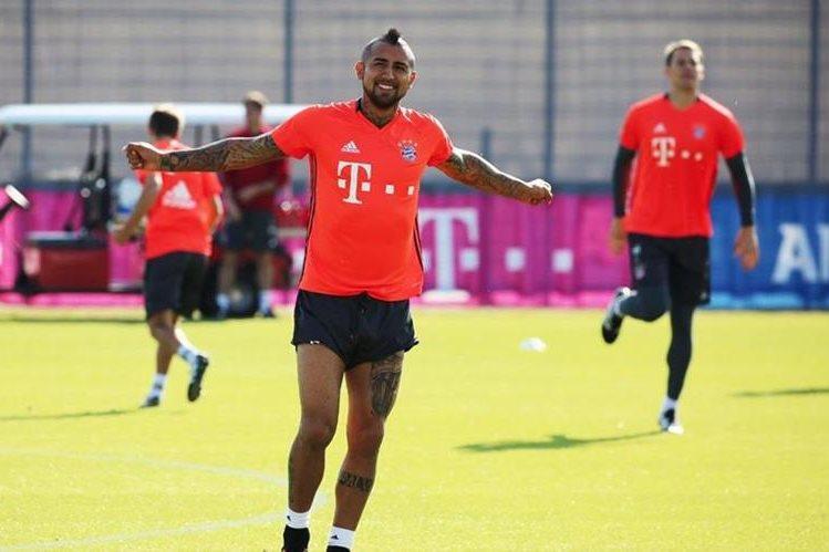 El chileno Arturo Vidal es uno de los jugadores que será titular en el duelo contra el Atlético de Madrid. (Foto Prensa Libre: Bayern Munich)
