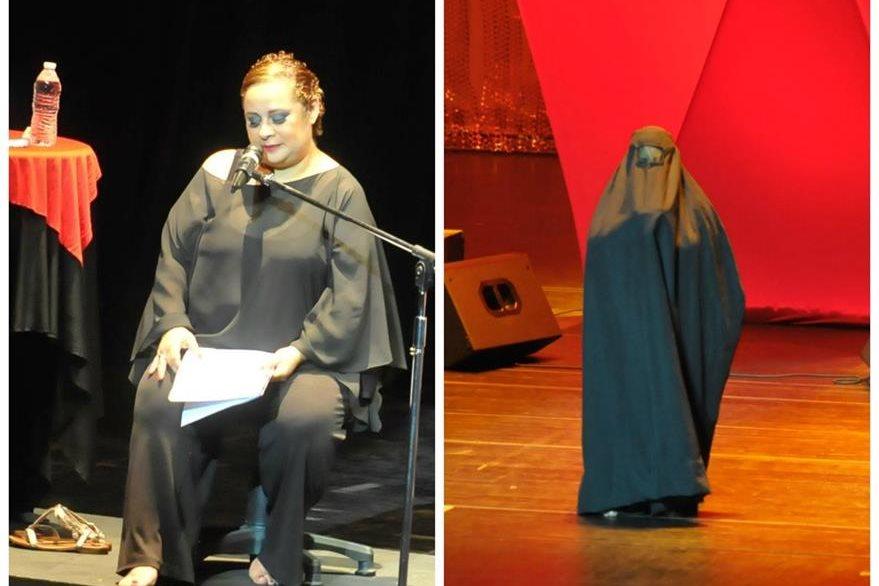 La actriz guatemalteca Liz Fernández presentó el relato desgarrador de mutilación femenina en La burka.