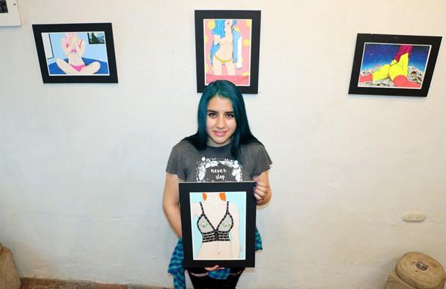 Anyjka Ochoa describe su arte como erótico (Foto Prensa Libre: Carlos Ventura)