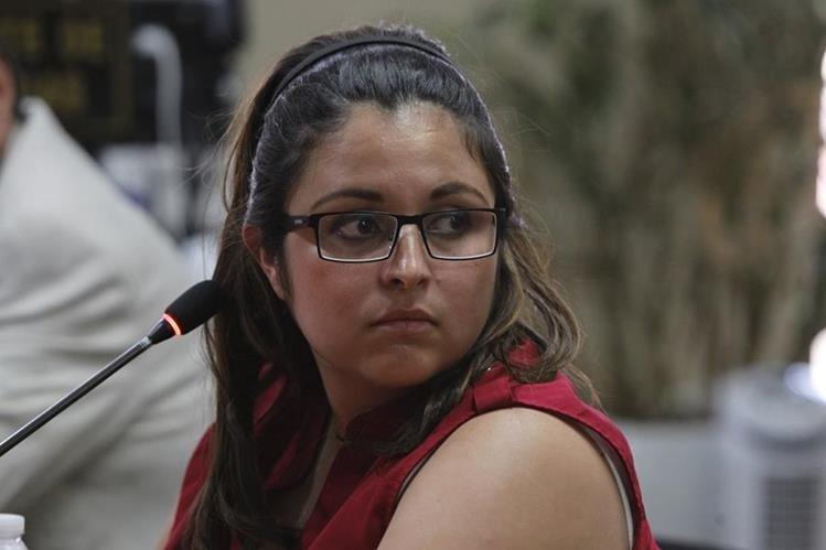 Joam María Ponce Sánchez, sobrina de Othmar Sánchez, amigo íntimo del presidente Jimmy Morales (Foto Prensa Libre: Paulo Raquec)