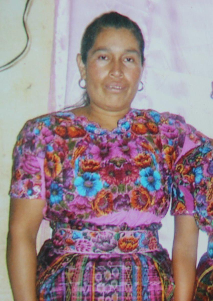 Elena Osorio Suc, de 48 años, víctima y madre de los niños que murieron en percance. (Foto Prensa Libre: Cortesía)