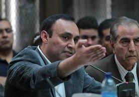 Byron Lima durante una audiencia en la Torre de Tribunales. (Foto Prensa Libre: Hemeroteca PL)