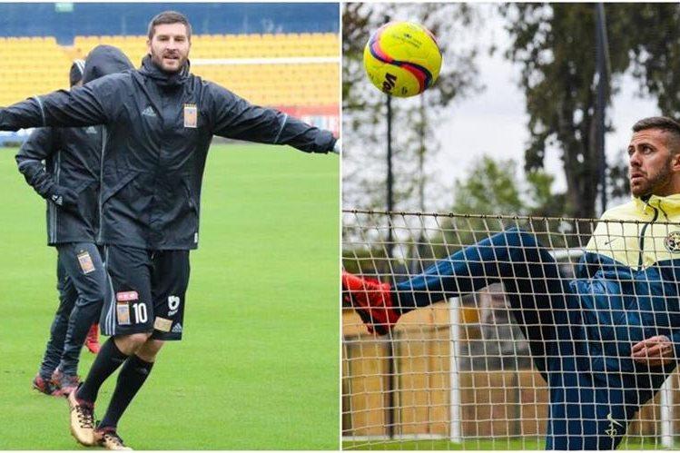 André-Pierre Gignac y Jérémy Ménez, dos franceses que deslumbran en la Liga MX. (Foto Prensa Libre: Twitter)