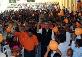 """<p>El precandidato presidencial del Partido Patriota participa en un acto político en Uspantán, Quiché. (Foto Prensa Libre: Óscar Figueroa)<br _mce_bogus=""""1""""></p>"""