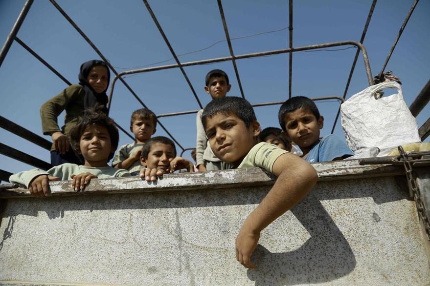 Los niños sirios padecen el horror de la guerra. (Foto Prensa Libre: AFP).