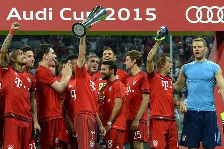 Recientemente el Bayern se coronó en la Copa Audi. (Foto Prensa Libre: AFP).
