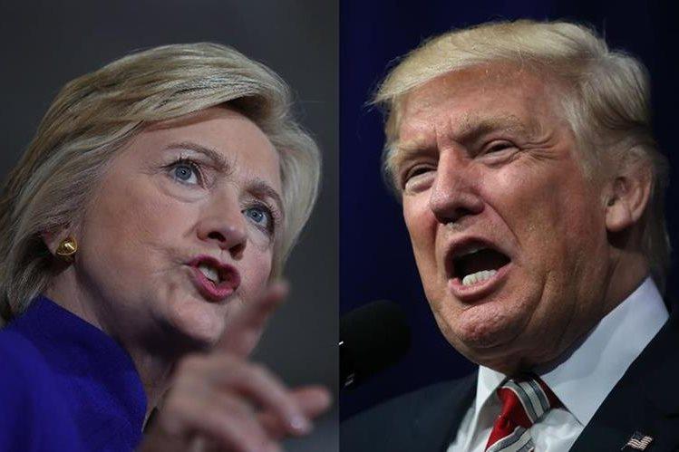 Hillary Clinton y Donald Trump se verán cara a cara el lunes en el primer debate presidencial. (Foto Prensa Libre:AFP).