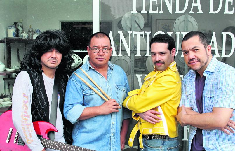 La banda nacional Killer Queen, interpretará más de  20 temas musicales de Queen. (Foto Prensa Libre: cortesía Killer Queen).