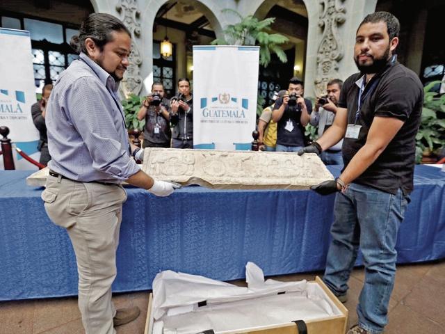 El ministerio de Cultura ahora tiene bajo su resguardo dos piezas arqueológicas que se incautaron en El Salvador y que desde el 2013 se ha seguido el trámite para que vuelvan al país.