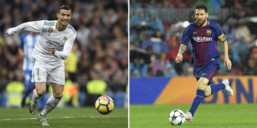 Cristiano Ronaldo vs. Lionel Messi, la eterna rivalidad. (Foto Prensa Libre: AFP)