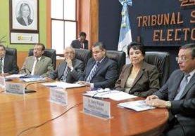 Magistrados aseguran que el TSE no ha sido invitado a participar en ninguna mesa de trabajo para reformar la Ley Electoral. (Foto Prensa Libre: Edwin Bercián)