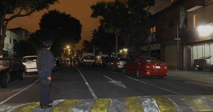 Vista de la calle donde se ubica la vivienda donde ocurrió el hallazgo. (Foto: @SinEmbargoMX).
