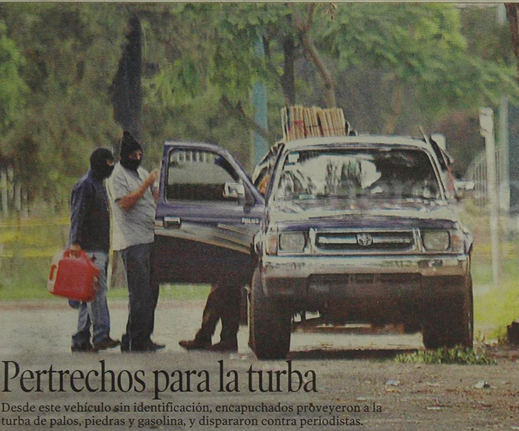 25/07/2003 Vários aspectos de los desmanes  que provocaron la hordas  del FRG. (Foto: Hemeroteca PL)