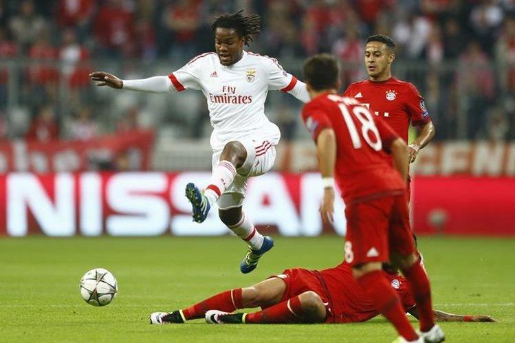 El portugués Renato Sanchez durante un partido con el Bendica, equipo del que salió para fichar con el Bayern Munich. (Foto Prensa Libre: AP)