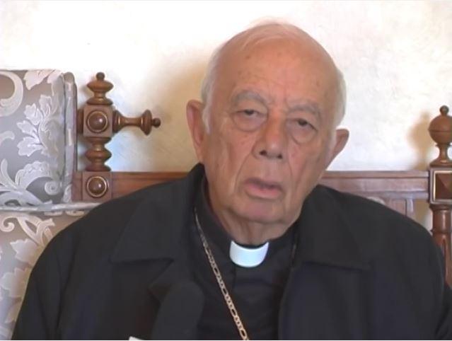 El cardenal Alberto Suárez Inda habla en un video del secuestro de un sacerdote mexicano. (YouTube)